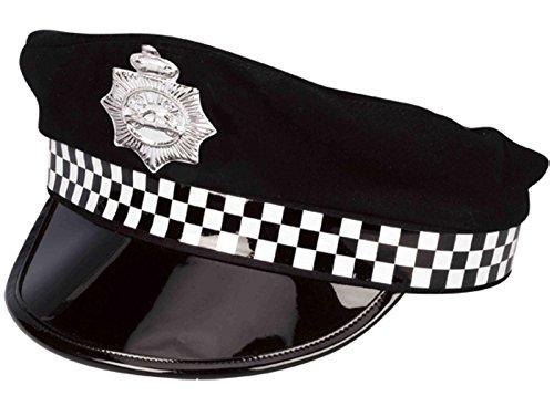Officer Kostüm Police British - Males Black British Police Officer Cap Policeman Constabulary Fancy Dress Hat#BLACK~ONE SIZE~BH-07075,150W270