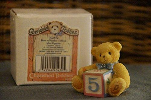 Cherished Teddies Sammlerbären, hier Bear with Number 5 Block (#302872) -