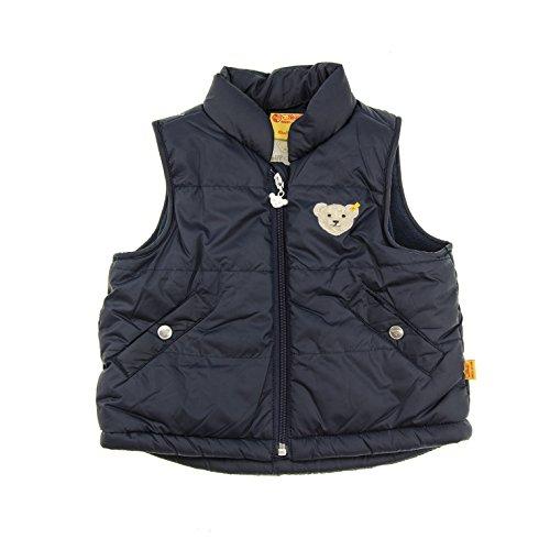 Steiff Unisex - Baby Weste O. Arm 0006827, Einfarbig, Gr. 92, Blau (Steiff Marine)
