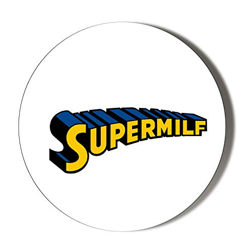 Kühlschrankmagnet, Motiv Insanity Super Milf, 45 mm, Weiß