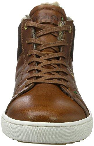 Pantofola d'Oro Herren Canaverse Uomo Fur Mid Hohe Sneaker Braun (Tortoise Shell)