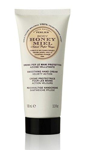 Perlier – Honey miel Smoothing Hand Cream Velvety Action 100 ml/3.3oz (Unboxed) – 100 ml/3.3oz.