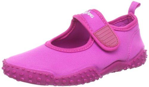 Playshoes Kinder Aquaschuhe, Badeschuhe klassisch mit UV-Schutz, 22/23, Pink (Pink 18)