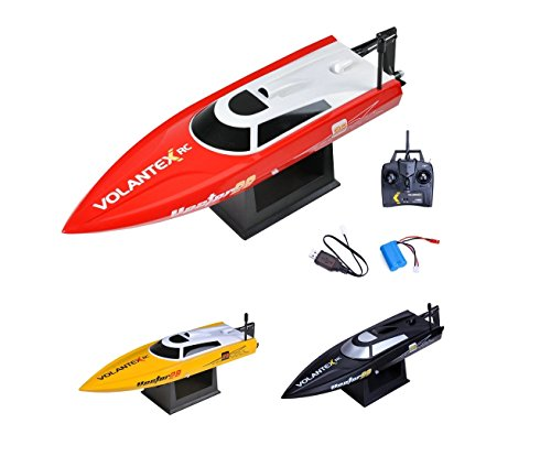 Speedboot PRO 2.4GHz - RC ferngesteuertes Boot mit 2,4GHz, vollproportionale Fernsteuerung, LiPo Modell mit Top-Speed bis zu 30km/h, Komplett-Set