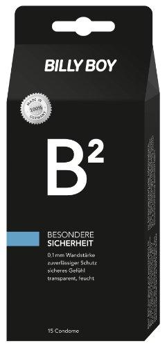 Billy Boy B² Besondere Sicherheit Kondome by Billy Boy mit 0,1 mm Wandstärke 15er Packung