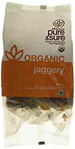 Pure & Sure Organic Jaggery, 500g