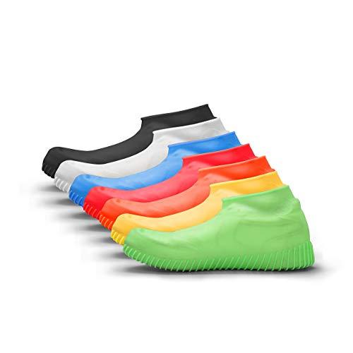 accessu Shoe Cover Regenschutz Regenschuh Schuhschutz Schuhüberzieher (neon grün, M (35-41)) Silikon Cover