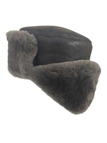 Zavelio Shearling Sheepskin Trapper Russian Ushanka Flying Winter Fur Hat