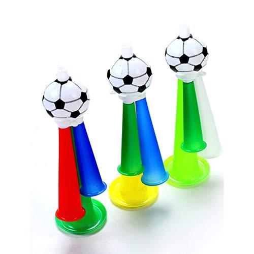Yililay 1pc Football Fans Kunststoff Horn Pfeife Partei Karneval Konzerte Lustige DREI Ton Trompete Spielzeug für Fußball Basketball und Baseball-Spiel (zufällige Farbe) Spielzeug für Kinder