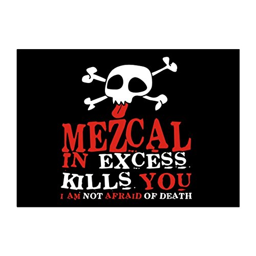 Mezcal in excess kills you I am not afraid of death Aufkleber Packung x4