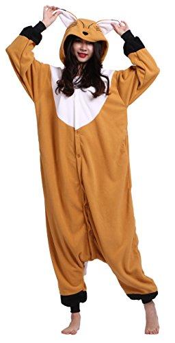 Imagen de cuteon unisexo adulto dibujos animados animal kigurumi pijama ropa de dormir encapuchado cosplay disfraz zorro l for altura 168 177cm