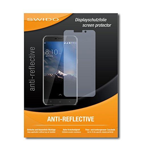 SWIDO® Schutzfolie für Blackview A10 [2 Stück] Anti-Reflex MATT Entspiegelnd, Hoher Härtegrad, Schutz vor Kratzer/Displayschutz, Displayschutzfolie, Panzerglas-Folie