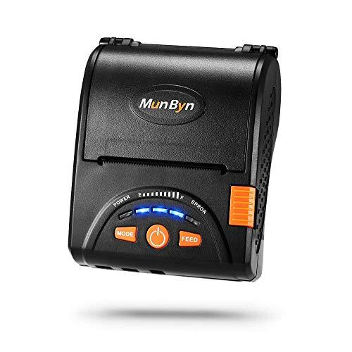 Mobile Thermodrucker Bluetooth MUNBYN 58mm Drucker für Android iPhone iPad und Akku für Kleinunternehmen ESC/POS