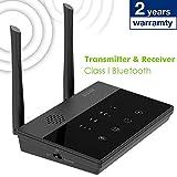 Besign BE-RTX Pro Adaptador Bluetooth Transmisor y Receptor, Largo Alcance, AptX Baja latencia, Óptico Digital TOSLINK, RCA o 3,5 mm, Voz Y Monitor, para TV/DVD o el Sistema Estéreo del Hogar