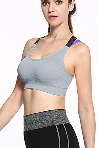 Croce Sport Wireless nuovo elastico reggiseno donne Grey