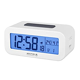 Acctim 71842 Varley RC LCD Alarm Clock in White