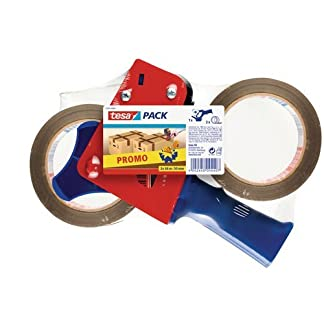 Pack de 2 cintas + dispensador de embalaje tesapack