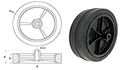 Zabi Räder für mähmaschinen / Räder für rasenmäher Mäher d = 175 mm Gleitlager
