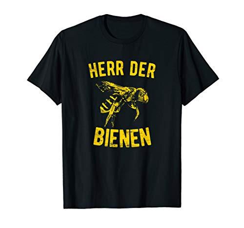 Herren Herr Der Bienen Spruch Für Hobbyimker und Bienenzüchter T-Shirt