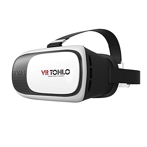 J TOHLO 3D VR Virtual Reality Headset 3D Glasses VR for iPhone 7 6 5, Galaxy S7 S6 S5 and Other 4.0
