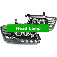 GOWE Deluxe lujo ángel ojos proyector lámpara de cabeza LED diurnos para Mitsubishi Pajero Montero Shogun