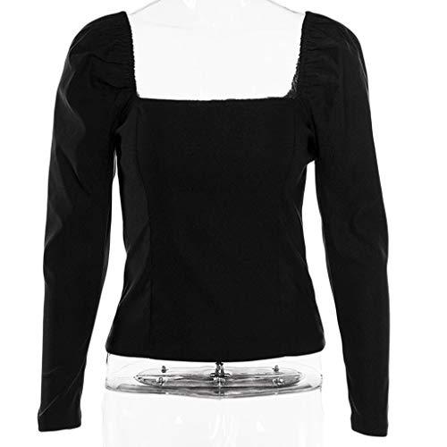 Damen Frühling Herbst Dünn streewear, LeeMon Sexy Womens Tops Long Sleeve Solid Blouse T-Shirt