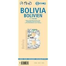 Bolivien: 1:1 750 000. Einzelkarten: Bolivia Oeste 1:1 750 000, Bolivia Este 1:2 500 000, La Paz 1:10 000, La Paz & Alrededores 1:400 000, Cochabamba ... 1:10 000, Bolivia administrative & time zones