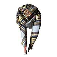 BANAA Winter Super Warm Oversized Scarf with Cashmere, Plaid Tartan Women Shawl, Scottish Style, Soft and Thick Scarves, Pashmina Cape, Christmas Present, Girlfriend Gift, Black Friday (1)