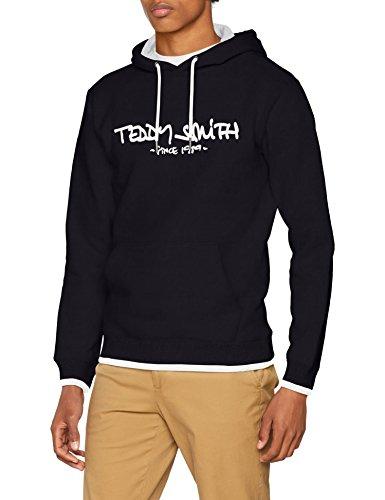 Teddy Smith SICLASS Hoody, Sweat-Shirt Homme, Bleu (Dark Navy 351), Taille Fabricant: M