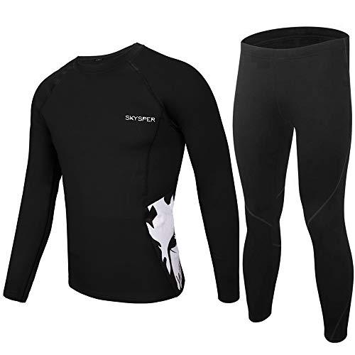 SKYSPER Thermounterwäsche Set Herren Winter Funktionsunterwäsche Herren Ski Funktionskleidung Unterwäsche Sport Anzug Outdoor Radsport