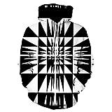 Xmiral Hoodies Herren Sweatshirt 3D Digital Vortex Printed Langarm mit Kapuze Oberseiten-Bluse (3XL,C)