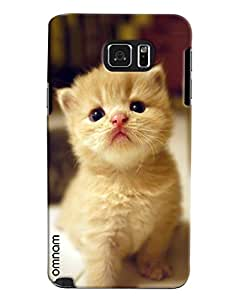 Omnam Beautiful White Cat Printed Designer Back Cover Case For Samsung Galaxy Note 5