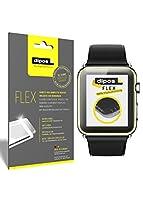 dipos FLEX è stata  disegnata appositamente per il display ricurvo del Apple Watch 42mm Series 1 + 2 proteggendolo completamente fino ai bordi. Le comuni pellicole protettive per display coprono spesso solo la superficie piatta dello schermo,...