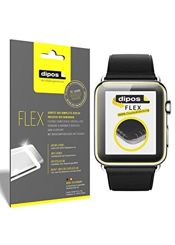 dipos I 3X Schutzfolie 100% passend für Apple Watch 42mm Folie (Vollständige Bildschirmabdeckung) Bildschirmschutzfolie