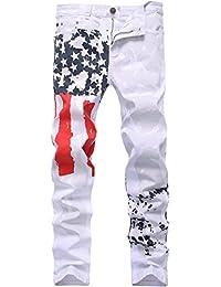 2e849b0c64464 jeansian Hommes Peinte Stretch Skinny Slim Casual Pantalons Mens Skinny Slim  Fit Jeans MJD001