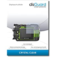"""3 x disGuard Screen Protector Olympus TG-Tracker Screen Protection Film """"CrystalClear"""" invisible"""