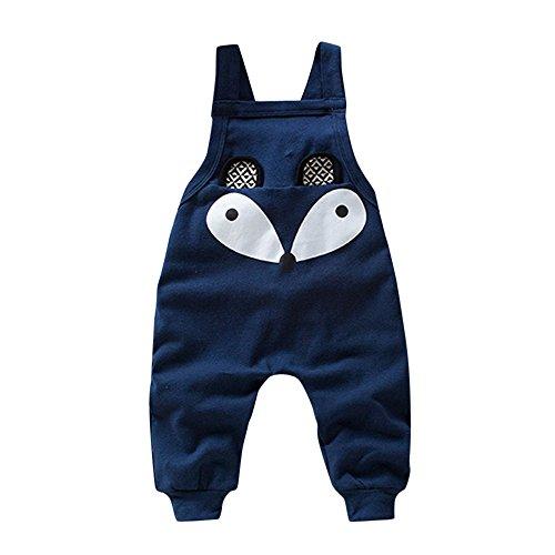 Hirolan Kleinkind Sweatshirt Outfits Baby Junge Mädchen Fuchs Drucken Lange Ärmel Plus Kaschmir Lange Hülse Top + Hosen Set Kleider (Marine 9, 80cm)