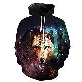TOYIWEI Wolf Unisex Sweatshirts 3D,Otaku-Zeichnungen,Cosplay,Manga,Hoodies Kapuzenpullover Hoodie Pullover,M