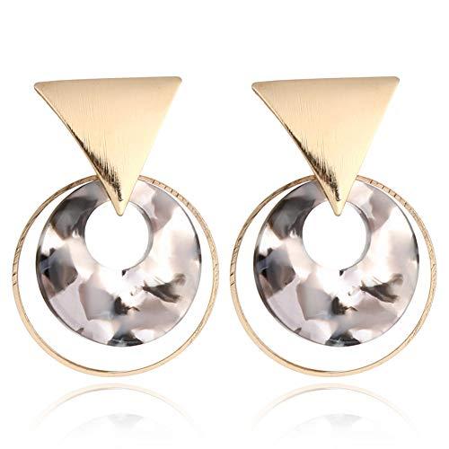 DIYOO 1 para der Damen Kreis Dreieck Acryl Creolen Große Hohle Ohrringe für Frauen Mädchen 4,2 * 3 cm 2#