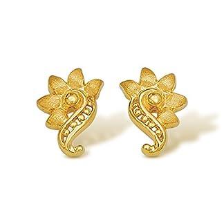 Nishtaa 22K Yellow Gold Stud Earrings for Women