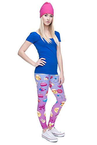 Alive Damen Leggings One size Emoji Pink