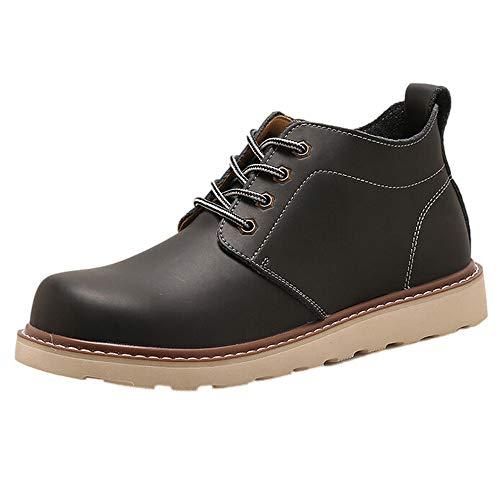 ODRD [EU36-EU49] Schuhe Herren Männer Handgefertigte Herren Retro Schuhe Luxus Marke Kleid Schuhe Kurze Stiefel Combat Hallenschuhe Worker Boots Laufschuhe Wanderschuhe Sneakers Sport -