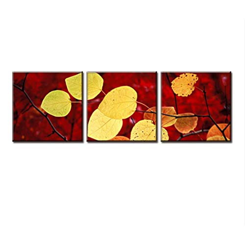 XKA Triptychon 3 Teile/Satz Herbstlaub Malerei Leinwand Moderne Wandbilder Ungerahmt Leinwand Wandkunst Bild Top Home Decoration -