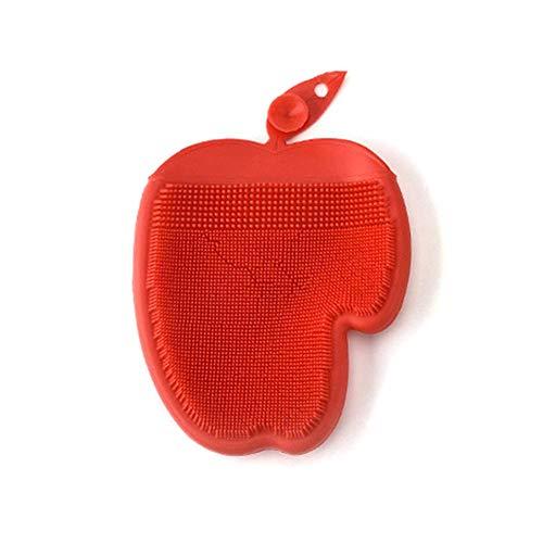 eamqrkt 1 Stück Silikon Schale Waschen Handschuh Schrubber Reinigung Geschirrspülmittel Bürste Küchen Werkzeug - Rot (Handschuhe Geschirrspülmittel Rot)