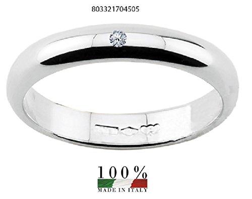 Anillo alianza de matrimonio con 5 gramos de diamante y oro de 18K para hombre. Grabado gratis