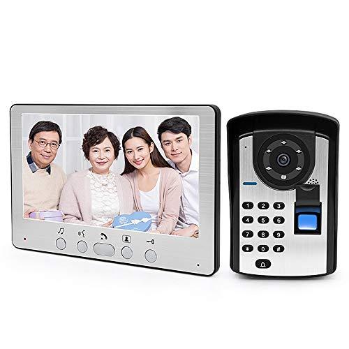 Hengta Video-Türklingel Fingerabdruck-Passwort Video-Gegensprechanlage Türklingel Home HD-Videokabel intelligente Überwachung Zutrittskontrollsystem 55 Video-kamera