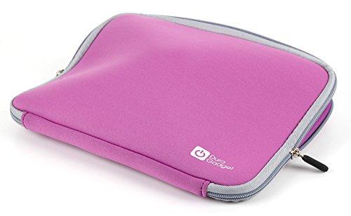 DuraGadget hochwertige Laptop-Tasche mit Rollen für ALDI MEDION Akoya E6232, AKOYA E6412T (MD 99450), Akoya E6422 (MD 99680) und ERAZER P6661 Laptops Lila