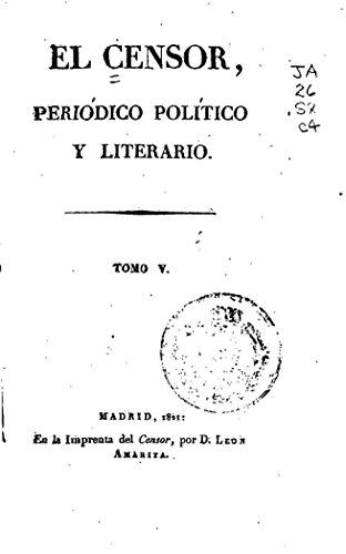 El Censor, periódico político y literario - Tomo V por El Censor
