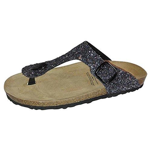 Geka Ladies Bioline Glisto Low Slippers Grigio (antracite)