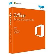 Microsoft Office Famille et Etudiant 2016 | 1 PC | téléchargement